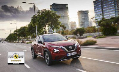Το ολοκαίνουργιο Nissan JUKE, έλαβε την κορυφαία αξιολόγηση πέντε αστέρων για το 2019 από το Independent European New Car Assessment Program (Euro NCAP), με επαίνους για την αντοχή του και την κορυφαία στην κατηγορία του τεχνολογία πρόληψης ατυχημάτων. Εξαιρετική προστασία ενηλίκων και παιδιών Στην προστασία των ενηλίκων επιβατών το νέο μοντέλο βαθμολογήθηκε με 94% και στην προστασία των παιδιών με 85%, τοποθετώντας το ψηλά στην κατηγορία των μικρών SUV, για το 2019. Αυτό συμβαίνει χάρη στην προηγμένη ενισχυμένη δομή του JUKE, καθώς και στην χρήση χάλυβα εξαιρετικά υψηλής αντοχής σε περιοχές – κλειδιά για τη βελτίωση της ακαμψίας, επιτρέποντας ταυτόχρονα την απορρόφηση και τη διάχυση της δύναμης πρόσκρουσης, πριν φθάσει στην κυψέλη ασφαλείας των επιβατών. Η προσεκτική χρήση αυτών των ειδικών μετάλλων, επέτρεψε επίσης στη Nissan να βελτιώσει την ορατότητα σε μια περιοχή κρίσιμης σημασίας για την ασφάλεια. Οι κολόνες Α μεταξύ του παρμπρίζ και των πλαισίων των θυρών έχουν γίνει λεπτότερες, αλλά εξακολουθούν να διατηρούν την αντοχή τους, λόγω της στρατηγικής χρήσης χάλυβα εξαιρετικά υψηλής αντοχής. Τη νύχτα, η ορατότητα βελτιώνεται περαιτέρω χάρη στους στάνταρ προβολείς LED, οι οποίοι αυξάνουν το πεδίο ορατότητας στα 10 μέτρα. Αξιοσημείωτη προστασία των ευάλωτων χρηστών των οδών Το JUKE πέτυχε βαθμολογία 81% στους ποδηλάτες και στους πεζούς. Το Nissan JUKE διαθέτει διάφορα βοηθήματα ενεργητικής ασφάλειας, όπως η Έξυπνη Πέδηση Έκτακτης Ανάγκης, η οποία προειδοποιεί τον οδηγό και εφαρμόζει τα φρένα αν το αυτοκίνητο αντιληφθεί κίνδυνο πρόσκρουσης με όχημα, πεζό ή ποδηλάτη. Αυτό είναι στάνταρ σε όλα τα νέα εξοπλιστικά πακέτα του JUKE και όχι μόνο στις πλουσιότερες εκδόσεις, εξασφαλίζοντας στον οδηγό του την ευελιξία και τη διασκεδαστική οδήγηση του δικού του Nissan JUKE, χωρίς να θυσιάζει την ασφάλεια. Υποστήριξη ασφαλείας Το Euro NCAP αναγνωρίζει ότι είναι πάντοτε προτιμότερο να αποφεύγεται η πρόκληση ατυχημάτων και για τον λόγο αυτό δίνει πόντους στην τεχνολογία που βοηθά