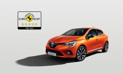 Το All-new Renault CLIO προσφέρει κορυφαία ασφάλεια 5 αστέρων