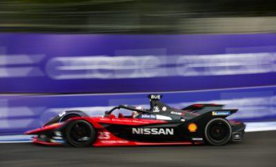 Ο Sebastien Buemi, της Nissan e.dams, στο βάθρο των νικητών