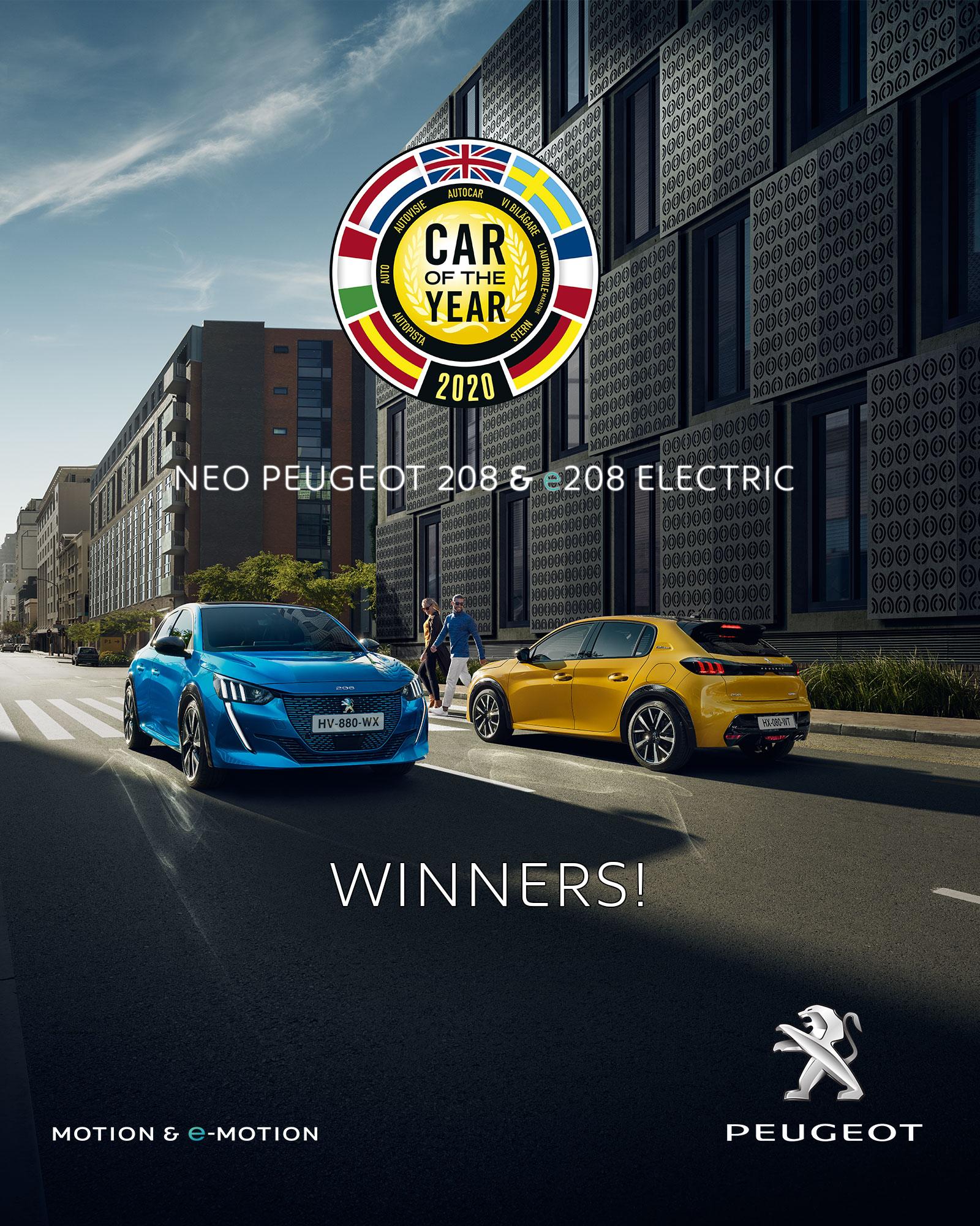 """Το ΝΕΟ PEUGEOT 208 αναδείχθηκε «Αυτοκίνητο της Χρονιάς 2020» στις 2 Μαρτίου, στη Γενεύη, από μία επιτροπή 60 Ευρωπαίων Δημοσιογράφων Αυτοκινήτου, διεθνούς κύρους. Η κριτική επιτροπή αποθέωσε τη γκάμα κινητήρων του 208, δηλώνοντας: «Το Peugeot 208 προσφέρει τη δύναμη της επιλογής, καθώς διατίθεται με ηλεκτρικό κινητήρα και με κινητήρες βενζίνης και πετρελαίου». Η επιτροπή έκανε λόγο, επίσης, για το τολμηρό design και την πρωτοποριακή τεχνολογία του ΝΕΟΥ PEUGEOT 208, το οποίο όντας ήδη best-seller, αποτελεί το πρώτο PEUGEOT της συγκεκριμένης κατηγορίας (B Segment) που κατέκτησε τον πολυπόθητο τίτλο του ευρωπαϊκού «Αυτοκινήτου της Χρονιάς»! Βέβαια, το PEUGEOT 208 είναι το 6ο συνολικά αυτοκίνητο της γαλλικής μάρκας που κατακτά αυτό τον τίτλο. Το PEUGEOT 208, «Αυτοκίνητο της Χρονιάς 2020», ξαναγράφει ιστορία στην κατηγορία του. Διαθέσιμο είτε με αμιγώς ηλεκτρικό κινητήρα είτε με κινητήρες εσωτερικής καύσεως, το ΝΕΟ PEUGEOT 208 δίνει τη «δύναμη της επιλογής» στον μελλοντικό οδηγό του. Ο εξωτερικός σχεδιασμός του ενσωματώνει το DNA της PEUGEOT, με τα LED φώτα στη μάσκα να προσιδιάζουν με 3 νυχιές λιονταριού. Οι σμιλεμένοι θόλοι των τροχών και τα πίσω φτερά αποτελούν χαρακτηριστικά στοιχεία του αυτοκινήτου που το κάνουν ιδιαίτερα ξεχωριστό. Το PEUGEOT 3D i - Cockpit ® (head-up display, compact σπορ τιμόνι και οθόνη αφής) καινοτομεί με ένα σύμπλεγμα τρισδιάστατης ψηφιακής τεχνολογίας όντας μοναδικό στην κατηγορία του, το οποίο δεν αναβαθμίζει μόνο την αισθητική του αυτοκινήτου, αλλά και την ασφάλεια. Ο θεσμός του Αυτοκινήτου της Χρονιάς βραβεύει ένα μοντέλο best seller, καθώς σχεδόν 110.000 πελάτες το έχουν ήδη παραγγείλει - μόλις 4 μήνες μετά το ευρωπαϊκό του λανσάρισμα - και το 15% των παραγγελιών αφορούν την ηλεκτρική έκδοση. Επίσης, στη Γαλλία το μοντέλο ήταν πρώτο σε πωλήσεις στην κατηγορία του τον Φεβρουάριο! """"Είμαι ιδιαίτερα υπερήφανος που το ΝΕΟ PEUGEOT 208 κέρδισε το βραβείο του «Αυτοκινήτου της Χρονιάς»! Αυτό το τρόπαιο υπογραμμίζει την αριστεία και τη δέσμευση όλω"""